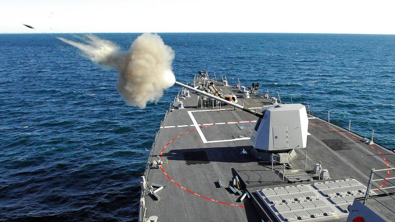 Illustration for article titled These Guided Smart Shells Could Revolutionize The Navy's Dated Deck Guns