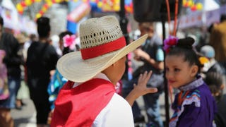 Children dressed in traditional Mexican attire attend a Cinco de Mayo festival on May 4, 2013, in Denver.John Moore/Getty Images