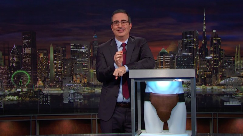 Illustration for article titled No, John Oliver did not buy that Russell Crowe leather jockstrap—except he totally did