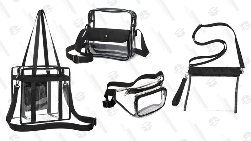 Veckle Clear Fanny Pack | $7 | Amazon | Promo code DRJAVZLZ | Clip the 5% off couponVeckle Clear Crossbody Purse With Pocket | $7 | Amazon | Promo code SBYHIRVS | Clip the 5% off couponVeckle Clear Crossbody Messenger Bag | $6 | Amazon | Promo code VBBYCI8L | Clip the 5% off couponVeckle Clear Shoulder Bag | $5 | Amazon | Promo code WWH56YOOVeckle Clear Tote Bag | $6 | Amazon | Promo code DRMMQLXW | Clip the 5% off couponVeckle Clear Crossbody Purse | $7 | Amazon | Promo code D3UAP6OR | Clip the 5% off coupon