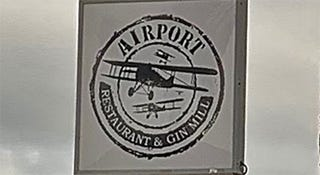 Airport Restaurant & Gin Mill Sign