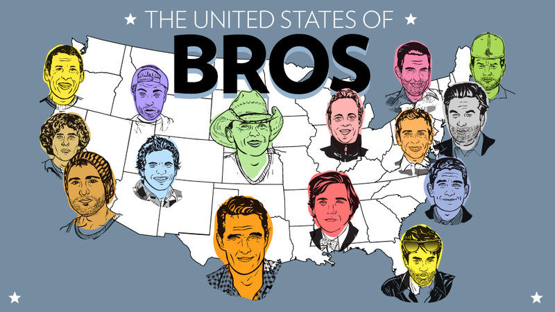 Illustration for article titled The United States of Bros: A Map and Field Guide