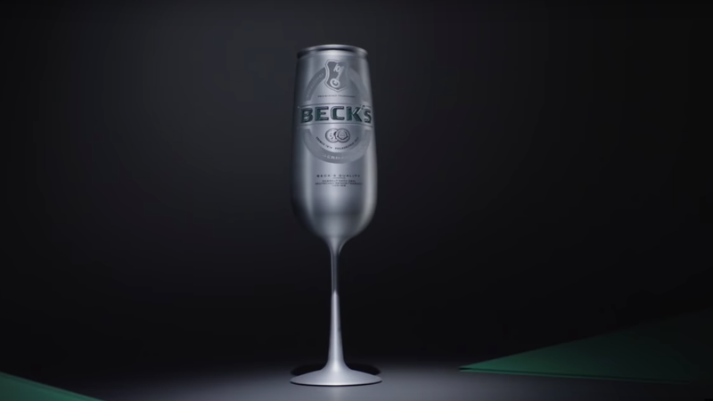 Illustration for article titled Beck's debuts champagne flute-shaped can to make its beer classy