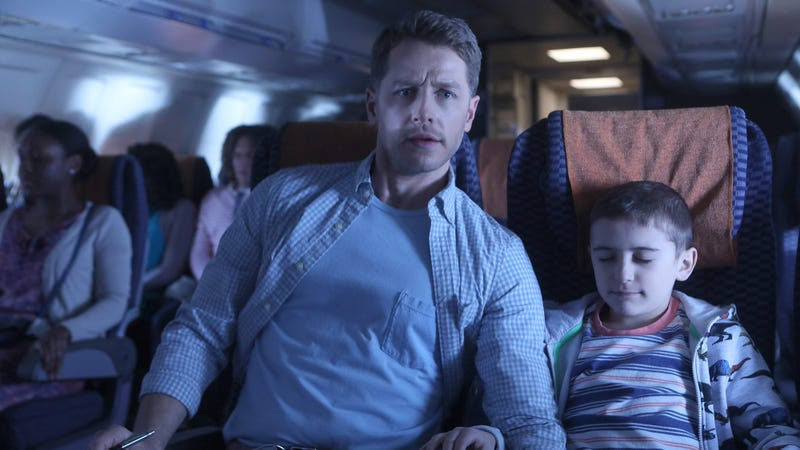 Josh Dallas (left) and Jack Messina in Manifest