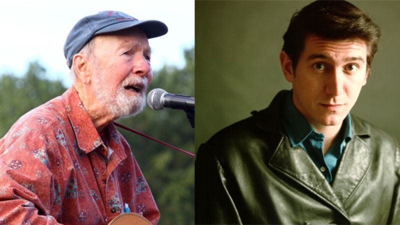 Illustration for article titled From Pete Seeger to Phil Ochs to oblivion: Folk music's westward drift