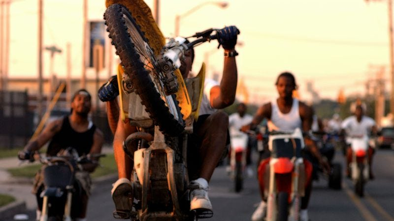 Illustration for article titled Without clear agenda, 12 O'Clock Boys examines Baltimore dirt-bike culture