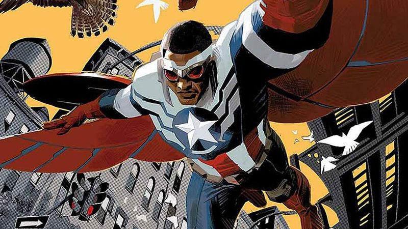 Illustration for article titled The controversial Captain America: Sam Wilson soars by getting political