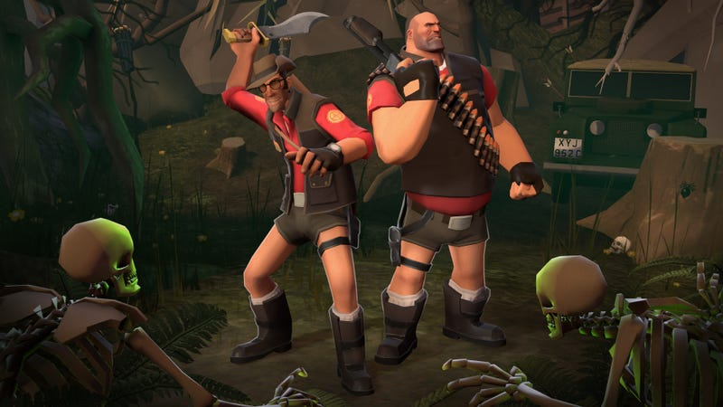 Illustration for article titled Who Wears Short Shorts? Team Fortress 2's Heavy, That's Who.