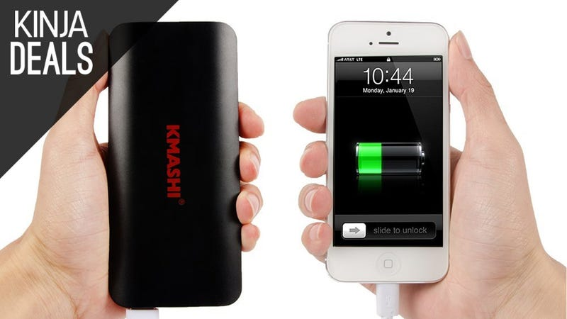 Illustration for article titled Carry an Extra 10,000mAh of Battery Power For $9