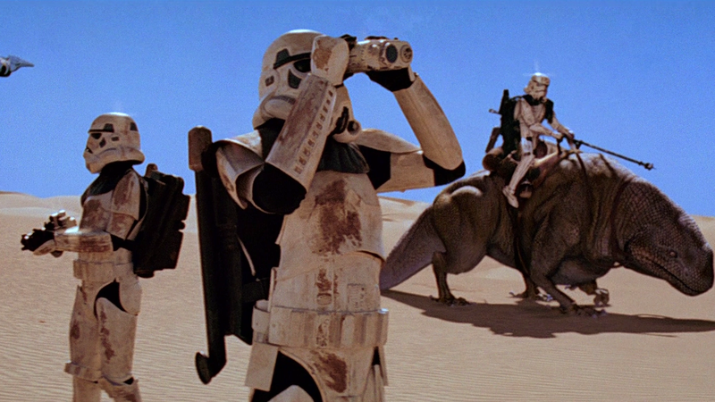 Stromtroopers, in the harsh desert.