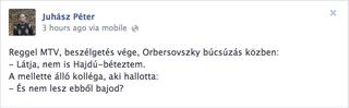 Illustration for article titled Az Orbán-rendszer legbátrabb katonája: Obersovszky nem Hajdú-Bétezett!