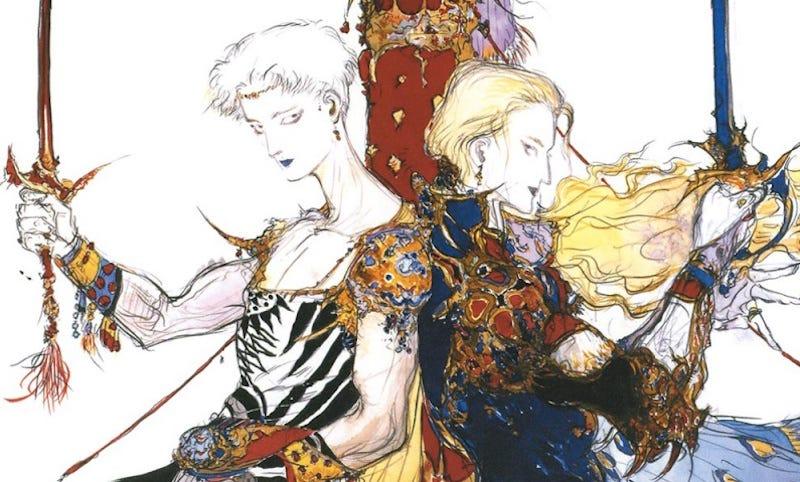 Final Fantasy V concept art by Yoshitaka Amano