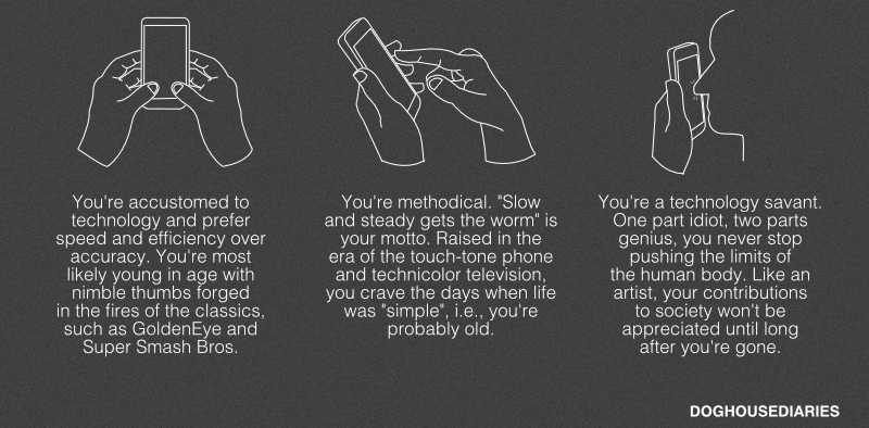 Illustration for article titled What Your Smartphone Typing Says About You