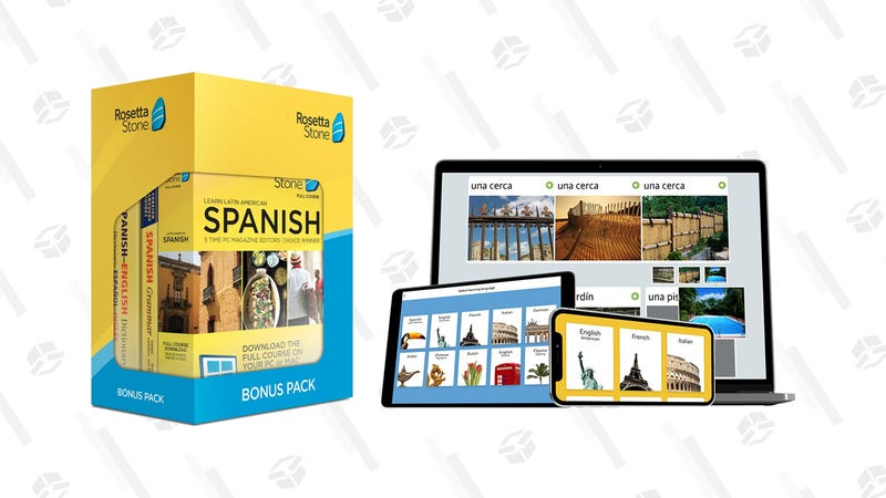 Learn Spanish: Rosetta Stone Bonus Pack (24 Month Subscription + Lifetime Download + Book Set) | $120 | Amazon