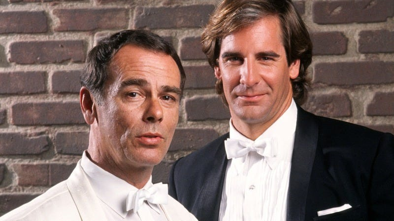 Dean Stockwell and Scott Bakula in Quantum Leap