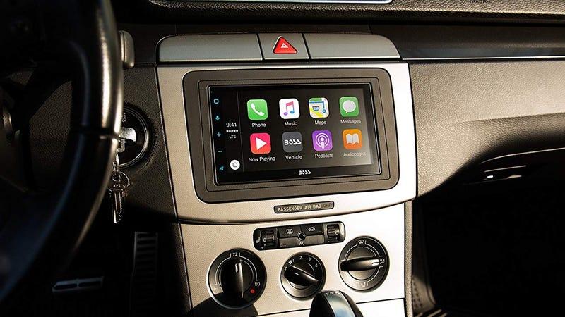 Boss Audio Apple CarPlay/Android Auto Receiver   $156   Amazon