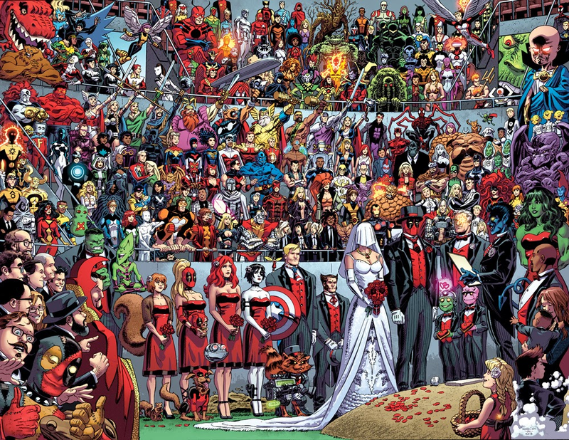 Illustration for article titled Holy crap a superhero got married and nobody interrupted it