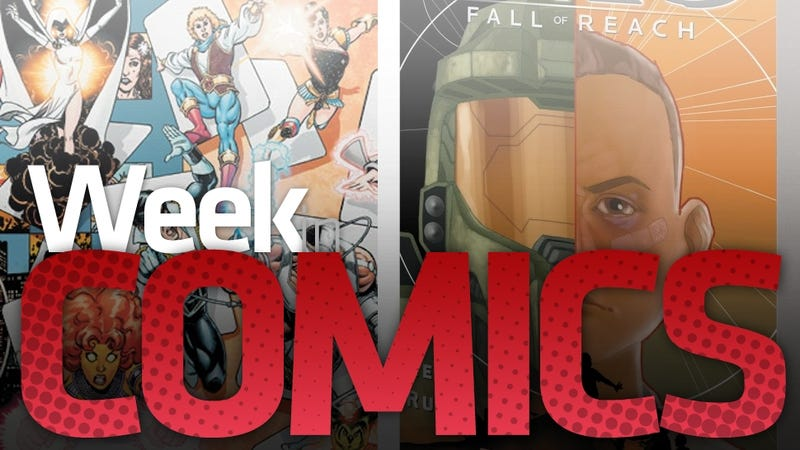 Illustration for article titled Halo, Mass Effect 2, DC #1s and — New Wolfman/Perez Teen Titans Top This Week's New Comics