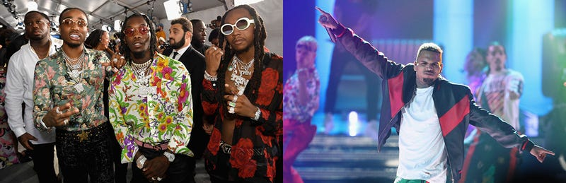 Migos (Paras Griffin/Getty Images); Chris Brown (Frederick M. Brown/Getty Images)