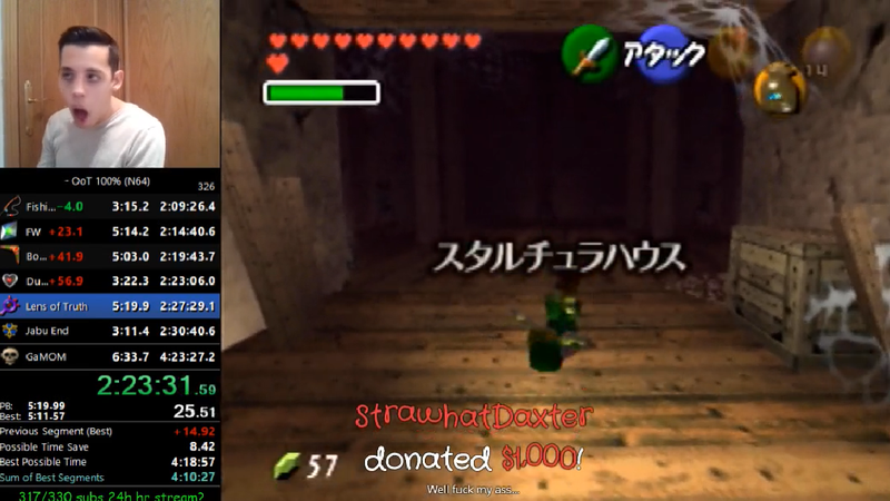 Speedrunner Gets $1,000 Donation While Playing Ocarina Of