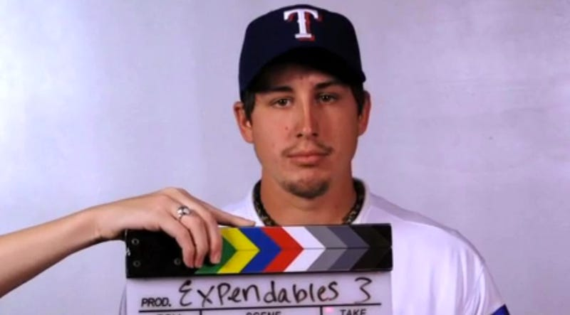 Illustration for article titled Here Are A Bunch Of MLB Players Doing Funny Impressions Of The Expendables Cast