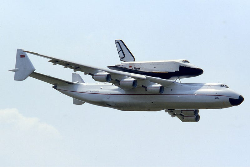 An-225 with Buran Space Shuttle
