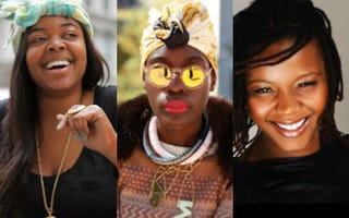 Christina Brown (Love Brown Sugar); Mariane Kihogo (Hannan Saleh);Claire Sulmers (Fashion Bomb Daily)