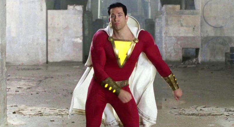 Zachary Levi dances as Shazam in Shazam!