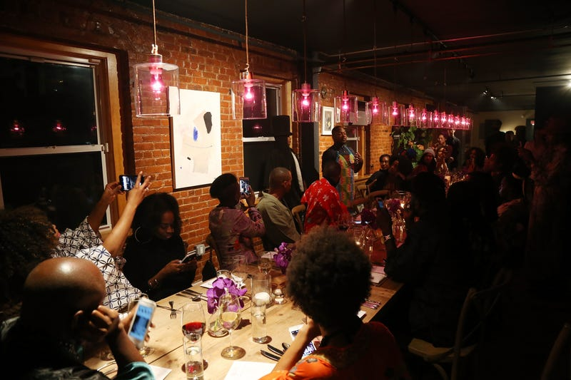 A general view of guests during the Soul Train Soul Food Vegan Dinner Party on Nov. 21, 2016, in New York CityBennett Raglin/Getty Images for BET