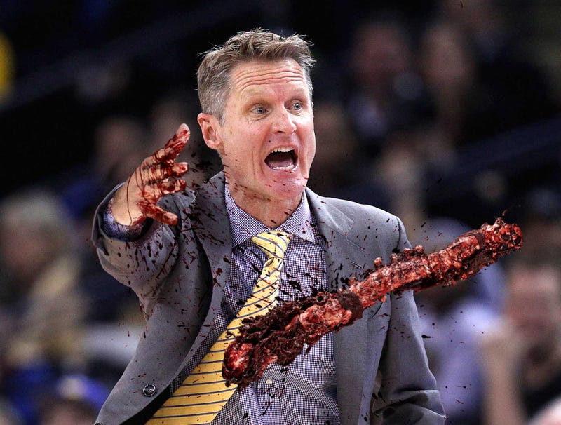 Illustration for article titled Furious Steve Kerr Throws Spine Onto Court To Protest Foul Call