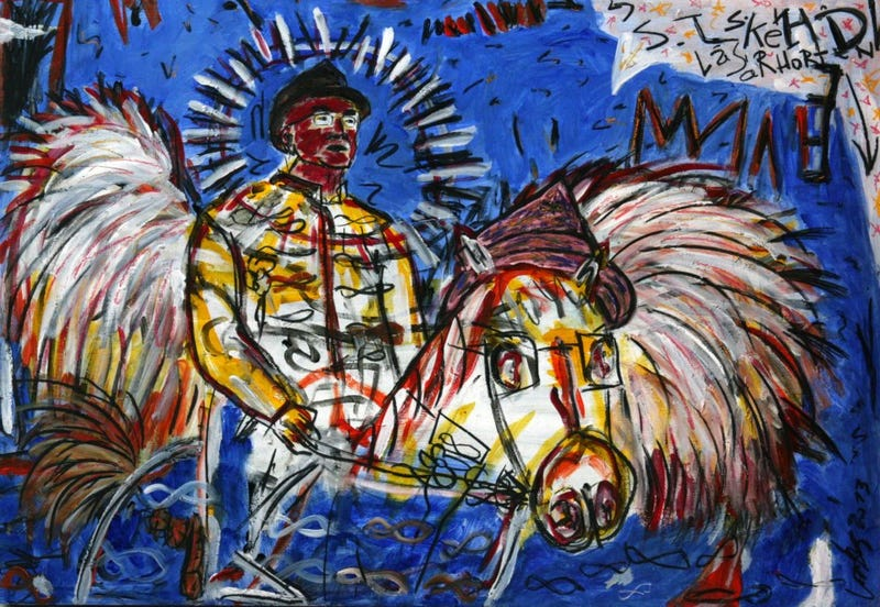 Illustration for article titled Semjén Zsolt belovagol Basquiat műtermébe