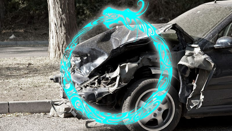 Illustration for article titled Wrecked Car Displayed To Warn About Drunk Driving Hit By Drunk Driver