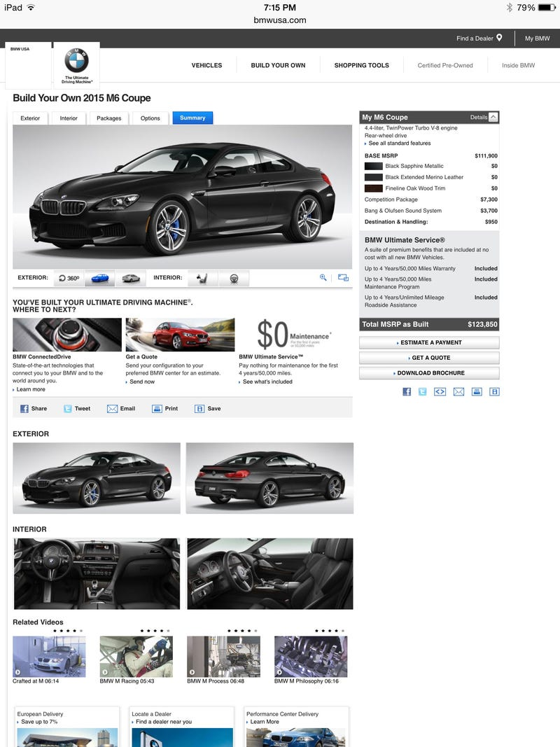 Illustration for article titled BMW Configurator: My ideal M6