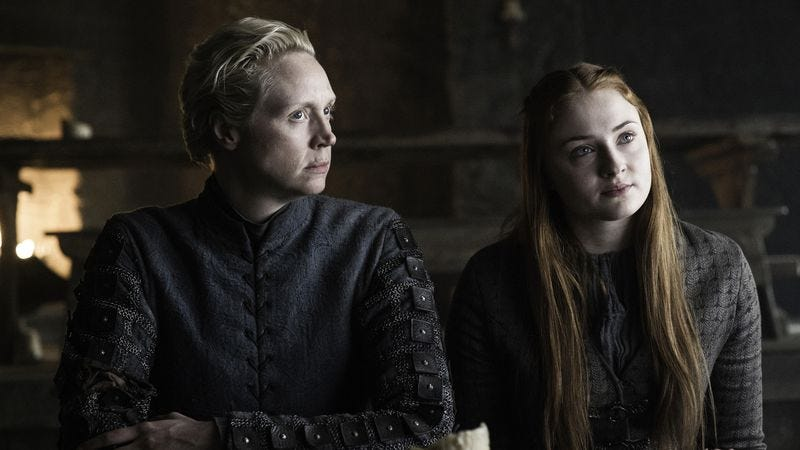 Brienne and Sansa are alive, and bloodthirsty. (Photo: Helen Sloan/HBO)