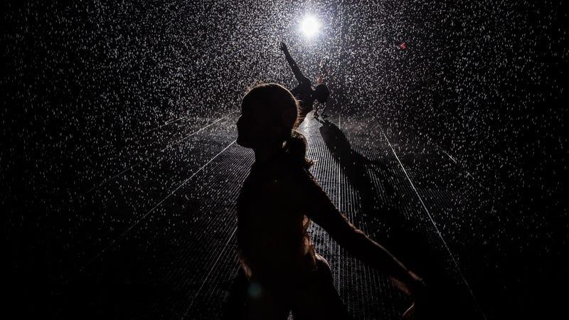 Illustration for article titled Camina bajo la lluvia sin mojarte con esta genial instalación