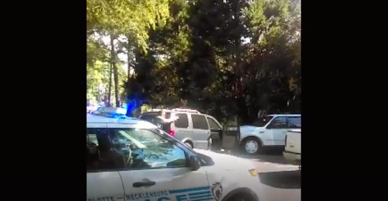 Rakeyia Scott's video captured officers approaching her husband before he was fatally shot.Screenshot