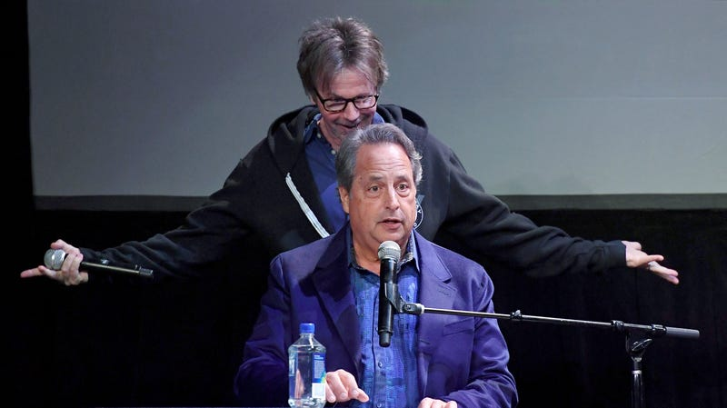 """Jon Lovitz (front) and Dana Carvey perform as they kick off their 20-show residency """"Reunited"""" on Jan. 6, 2017, in Las Vegas."""