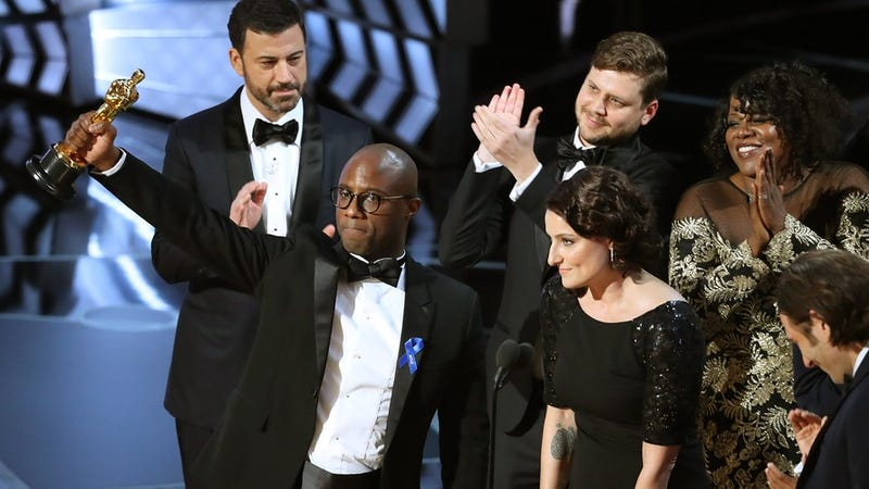 Moonlight director Barry Jenkins accepts the award for Best Picture at the 2017 Academy Awards. (Kevin Winter/Getty Images)