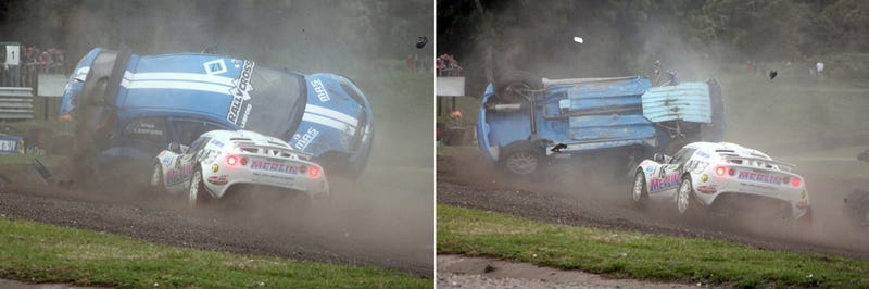 Illustration for article titled Why Rallycross Is Awesome In Two Pictures DNP