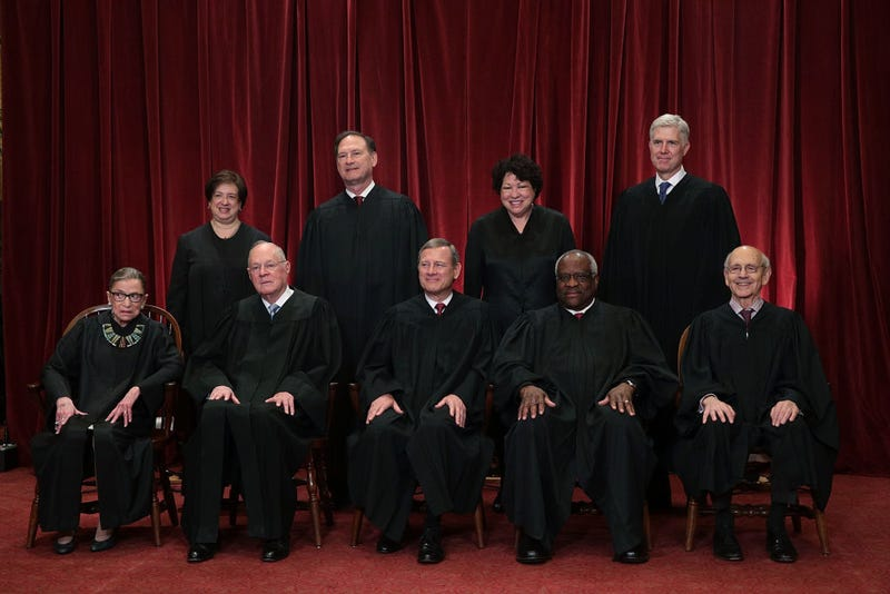 The members of the U.S. Supreme Court on June 1, 2017, in Washington, D.C.  (Alex Wong/Getty Images)