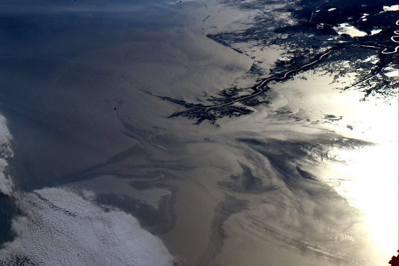 Illustration for article titled The Gulf Oil Spill, As Seen From the International Space Station