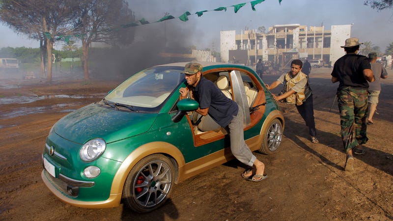 Illustration for article titled Libyan rebels liberate Gaddafi's custom Fiat 500