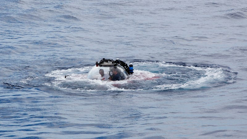 There goes Seychelles President Danny Faure going underwater.