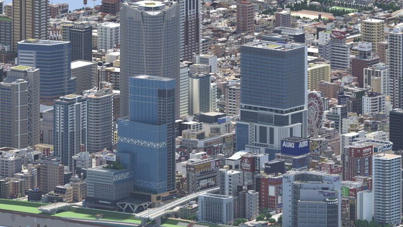 Illustration for article titled This Isn't A Photo Of Japan, But A City Made In Minecraft