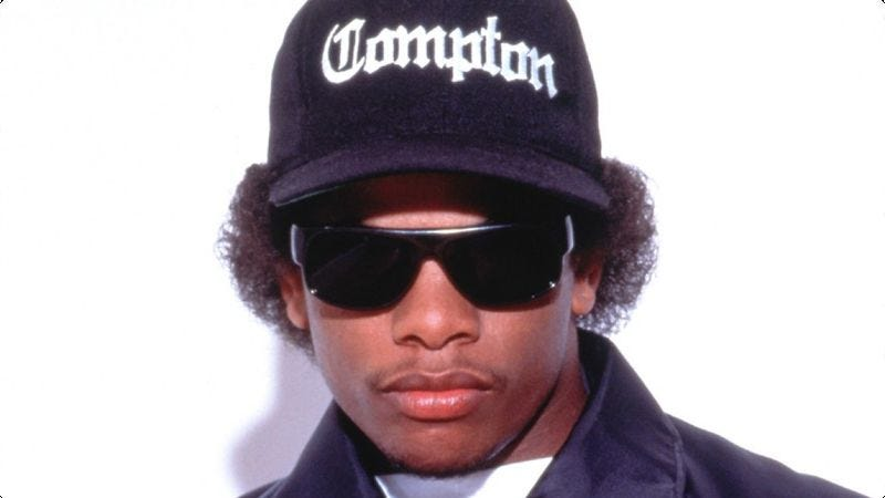 Illustration for article titled Eazy-E pulls off a heist, then pulls out his dick