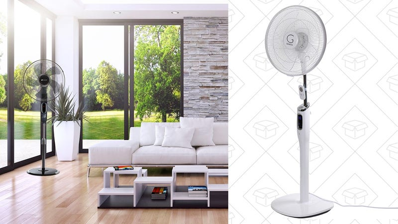 """Avalon High Velocity 16-Inch Stand Fan with Silent Technology + Remote 