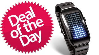 Illustration for article titled This LED Matrix Watch Is Your Complicated-Math-Bling Deal of the Day