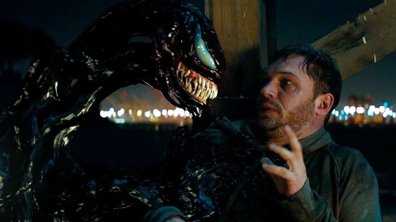 According to Tom Hardy, lots of dark comedy got cut from Venom.