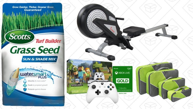 Illustration for article titled Sunday's Best Deals: Rowing Machine, Anker Powerline+, Lawn Care, and More