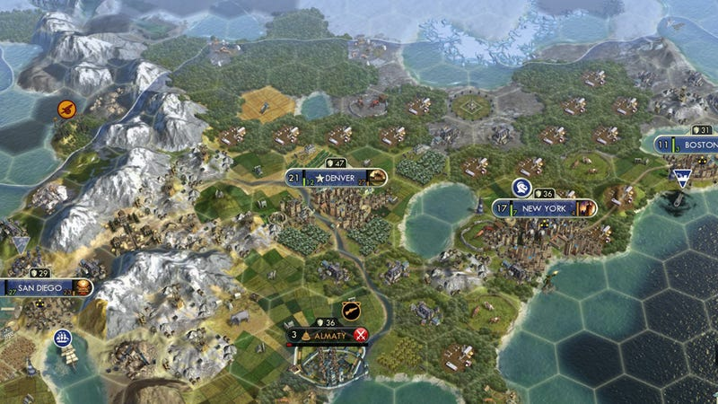 A Very Strange Bug Made My Civ V Game More Fun For a While – Civ 5 World Map